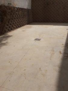 limpieza en arqueta de patio